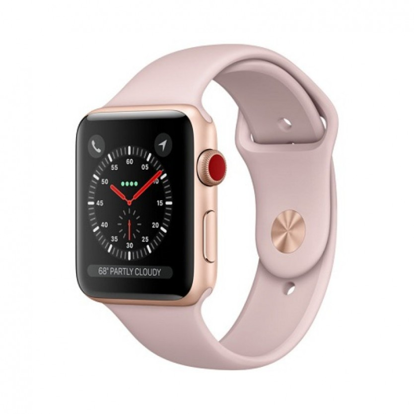 Apple Watch Series 3 Cellular 38mm Aluminium Gold Case with Pink Sand Sport Band MQJQ2 фото 1