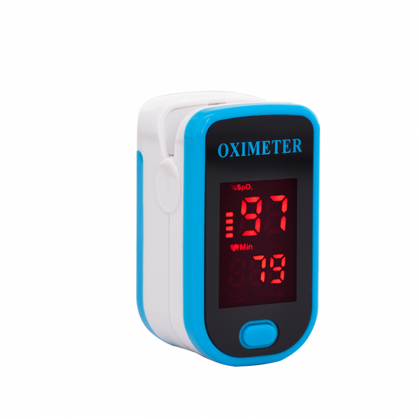Пульсоксиметр оксиметр на палец Finger Pulse Oximeter M230B Blue фото 1